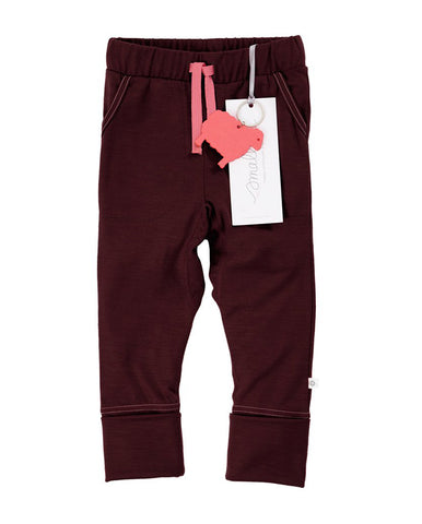 SMALLS FLUORO BERRY MARLE CONTRAST STITCH TROUSERS