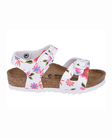 BIRKENSTOCK RIO CHINA FLOWERS WHITE REGULAR