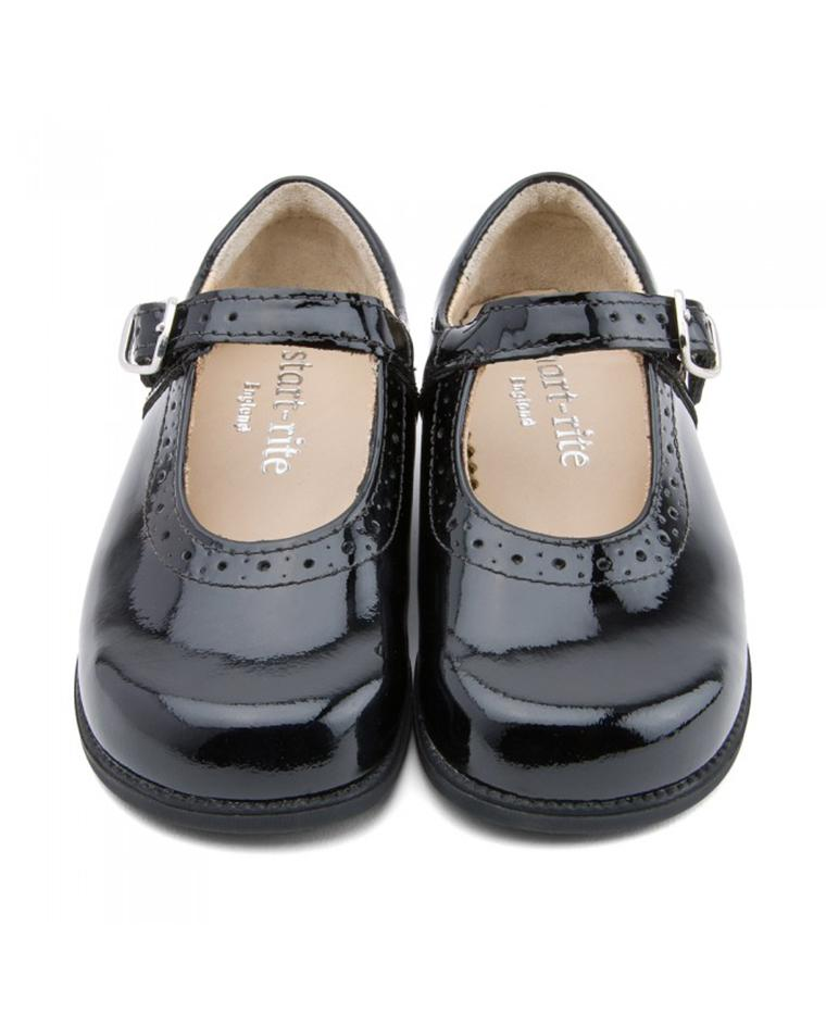Boys Black Leather Riptape Startrite Shoes Accelerate