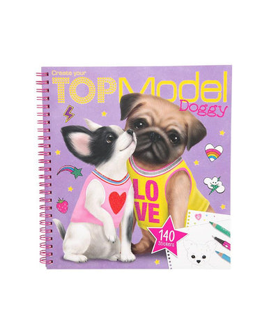 CREATE YOUR TOPMODEL DOGGY COLOURING BOOK