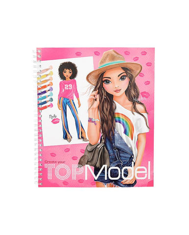 CREATE YOUR TOPMODEL COLOURING  BOOK
