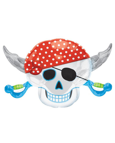 PIRATES PARTY SKULL BALLOON