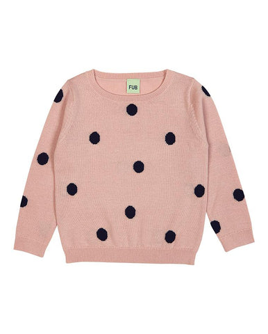 FUB DOT BLOUSE ROSE/NAVY