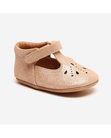BISGAARD HOME SHOE - BLOOM GLITTER NUDE