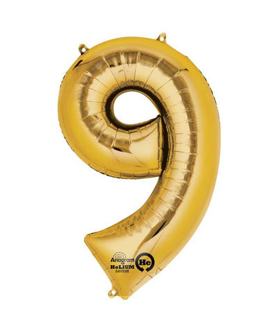 BALLOON NUMBER 9-GOLD
