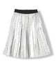 AMERY SILVER - GIRL WOVEN PLEATED SKIRT