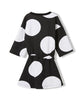 FINGER IN THE NOSE AWARD BLACK POLKA DOTS - GIRL KNITTED DRESS