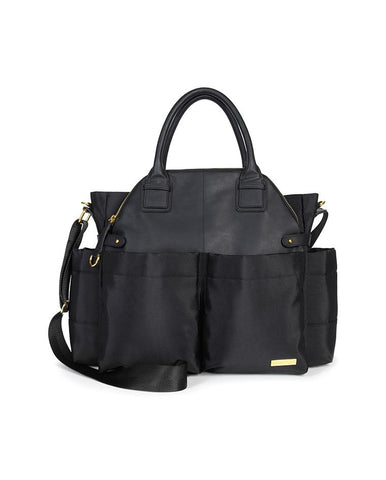 SKIP HOP CHANGING BAG CHELSEA SATCHEL BLACK