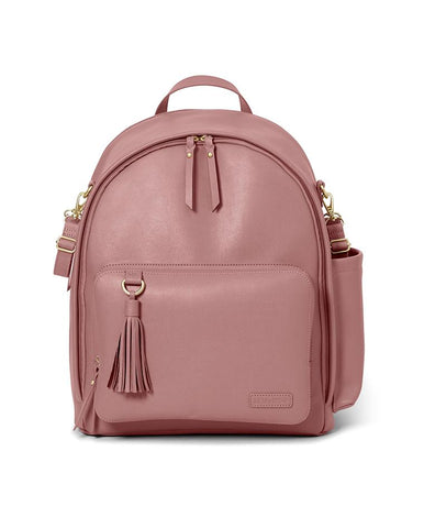 SKIP HOP CHANGING BAG GREENWICH SIMPLY CHIC CHANGING BACKPACK DUSTY ROSE