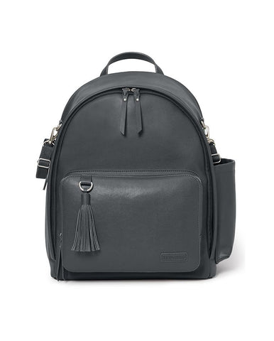 SKIP HOP CHANGING BAG GREENWICH SIMPLY CHIC CHANGING BACKPACK SMOKE
