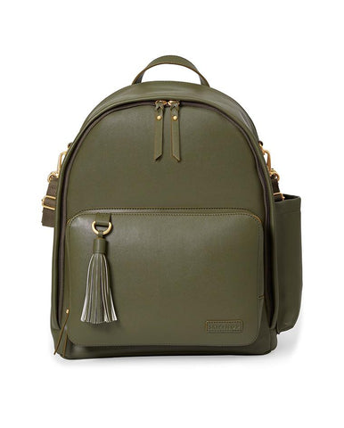 SKIP HOP CHANGING BAG GREENWICH SIMPLY CHIC CHANGING BACKPACK OLIVE