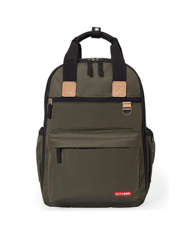 SKIP HOP CHANGING BAG DUO BACKPACK OLIVE MINI GRID