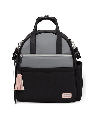 SKIP HOP CHANGING BAG NOLITA NEOPRENE CHANGING BACKPACK GREY/BLACK