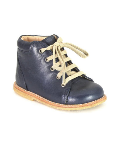 ANGULUS LACE-UP SHOE DARK BLUE SIMPLE