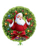 JOLLY SANTA IN WREATH