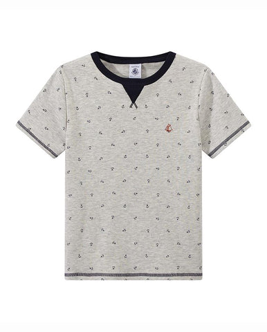 BOY'S ANCHOR-PRINT T-SHIRT