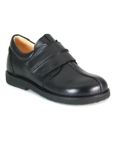 ANGULUS BOYS SINGLE VELCRO BLACK CREAM INSIDE