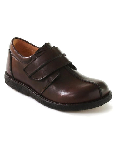 ANGULUS BOYS SINGLE VELCRO BROWN-BLACK INSIDE