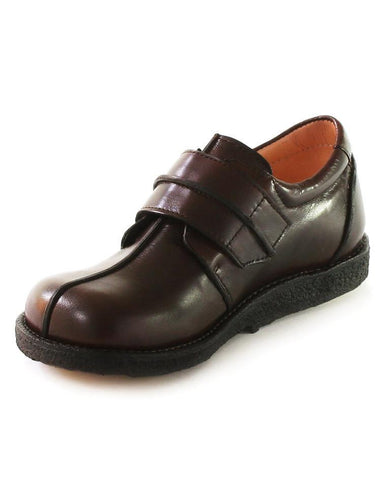 ANGULUS BOYS SINGLE VELCRO BROWN-CREAM INSIDE