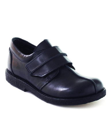ANGULUS BOYS SINGLE VELCRO NAVY-BLACK INSIDE