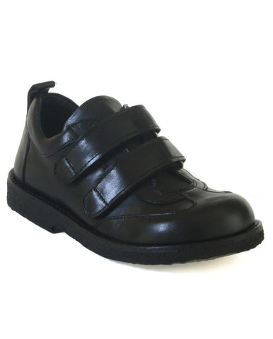 ANGULUS BOYS DOUBLE VELCRO BLACK