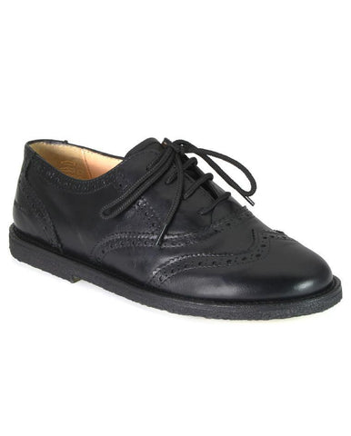 ANGULUS ALIDA BLACK SHOE BROGUE