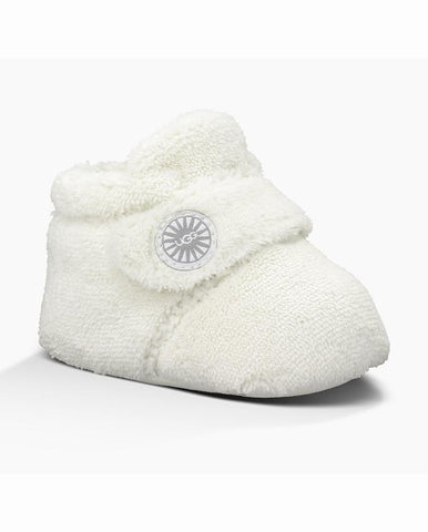 UGG BIXBEE BABY  WHITE SLIPPERS