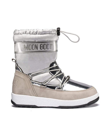 MOON BOOT GIRL'S SOFT SILVER BOOT