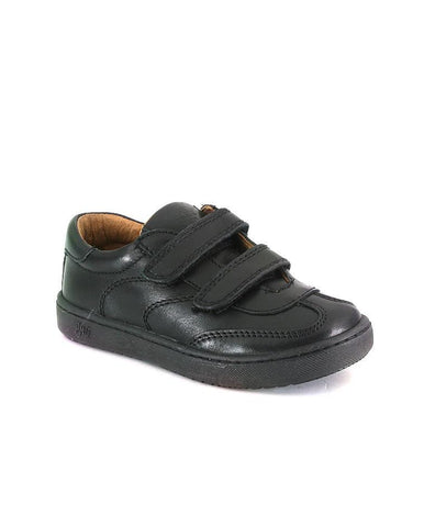 PRIMIGI BOYS DIAMOND BLACK LEATHER SHOES