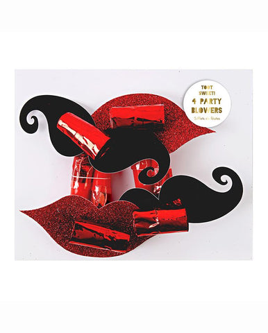 MOUSTACHE & LIPS PARTY BLOWERS