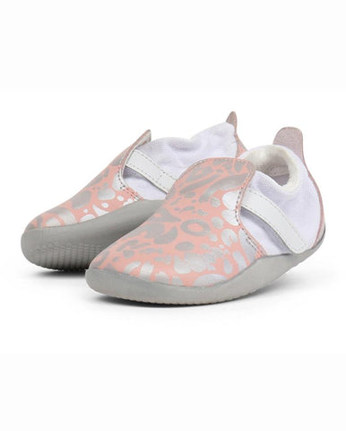 BOBUX XPLORER ABSTRACT PINK + SILVER SHOES