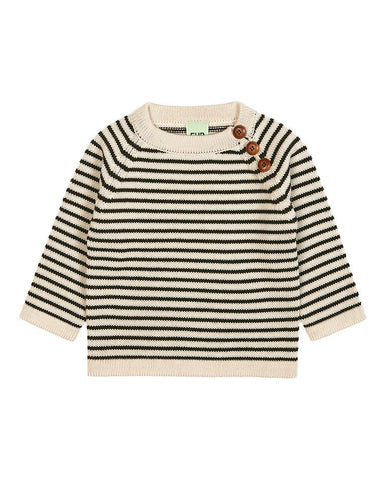 FUB BABY SWEATER ECRU/BROWN