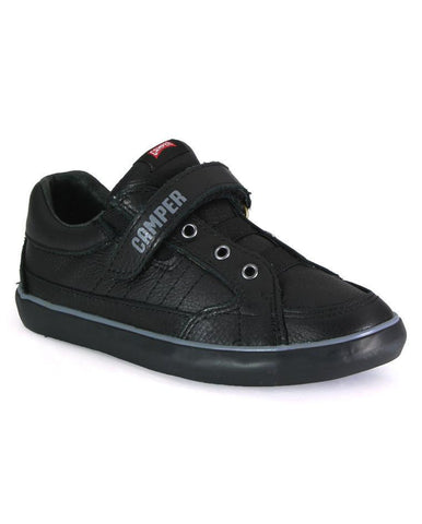 CAMPER KIDS PURSUIT BLACK SCHOOL SHOES