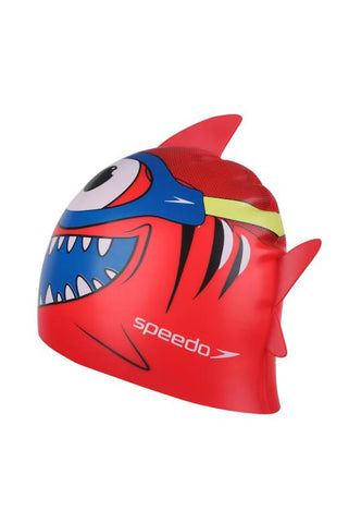 SPEEDO SEA SQUAD CHARACTER JUNIOR SWIM CAP RED