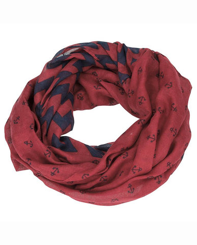 TOPModel Loopscarf, Anchor, Winered