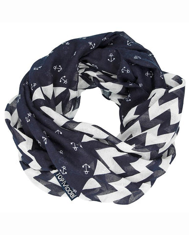 TOPModel Loopscarf, Anchor, Darkblue