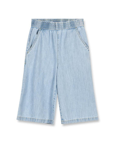 AMA BLEACHED BLUE - GIRL WOVEN OVERSIZED BERMUDAS 192-071-251