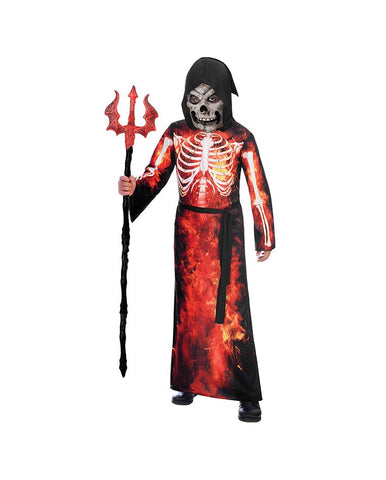 AMSCAN FIRE REAPER COSTUME - AGE 6-8 YEARS