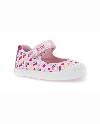 Girls Geox Junior Girls Xunday Trainers in Lilac UK 6