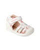 BIOMECANICS GIRL SANDALS BLANCO Y FLORES (SERRAJE Y ESTAMPADO) BIO-192122-B-WHITE