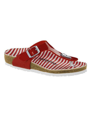 BIRKENSTOCK GIZEH KIDS BFDD NAUTICAL STRIPES RED 1012722-BIR