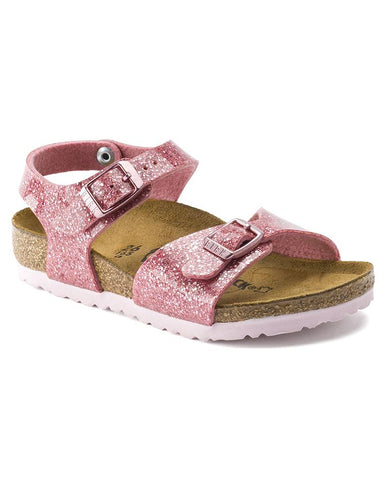 BIRKENSTOCK RIO PLAIN KIDS BF COSMIC SPARKLE ROSE