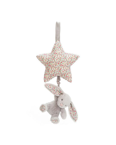 JELLYCATBLOSSOM SILVER BUNNY MUSICAL PULL