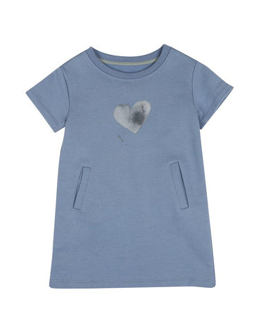 BASIC DRESS HEART FADED DENIM