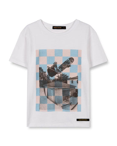 DALTON WHITE CHECKERS SKATE - BOY KNITTED SHORT SLEEVES T-SHIRT 192-099-100SK