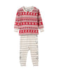 HATLEY FAIR ISLE FAWN ORGANIC COTTON BABY PYJAMA SET