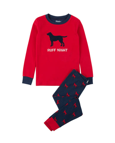 HATLEY RUFF NIGHT ORGANIC COTTON APPLIQUE PYJAMA SET