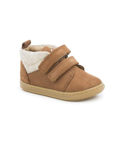 SHOOPOM BOUBA SCRATCH WOOL NUBUCK/TWEED CAMEL/ECRU
