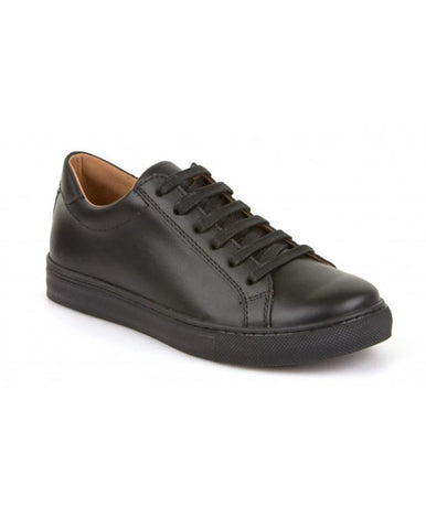 FRODDO BOYS BLACK SCHOOL SHOES WITH LACES G4130059