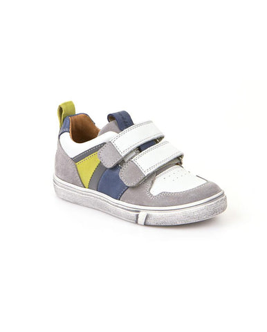 Froddo Boy's Double Velcro Sneakers w/Blue and Green Detail